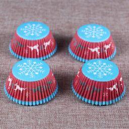 Cupcake Paper Cup Winter - 100 stuks