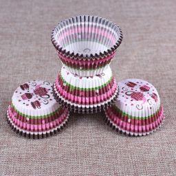 Cupcake Paper Cup Pink Tea - 100 stuks