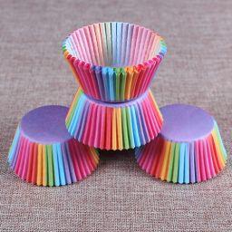 Cupcake Paper Cup Rainbow - 100 stuks