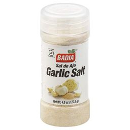 Badia Garlic Salt 4.5oz (127.6g)