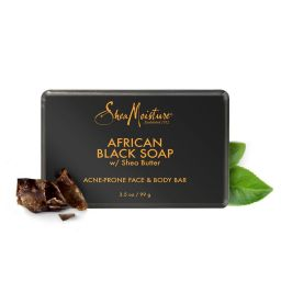 Shea Moisture Organic African Black Soap - Acne Prone Face & Body Bar 99gr
