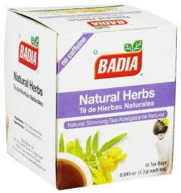 Badia Natural Herbs Tea 0.045oz (1.3g) - 10stuks