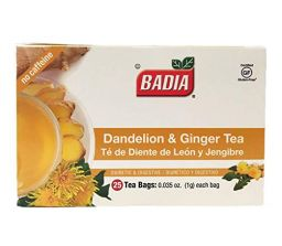 Badia Dandelion & Ginger Tea 0.035oz (1g) - 25stuks