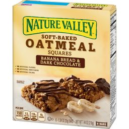 Nature Valley Oatmeal Squares Banana Bread/Dark Chocolate 7.44oz