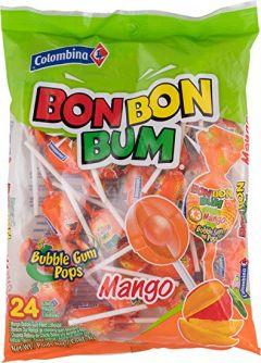 Bon Bon Bum Lollipops Mango 24stuks