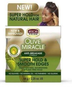 African Pride Olive Smooth Edges Control Gel 2.25oz (64g)