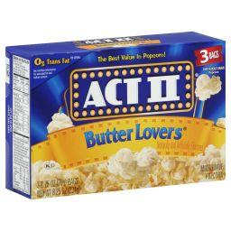 ACT II Butter Lovers 3 stuks