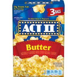 ACT II Butter 3 stuks