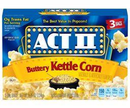 ACT II Buttery Kettle Corn 3 stuks