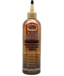 African Pride Black Castor Miracle Braid & Scalp Cleansing Rinse 12oz (355ml)