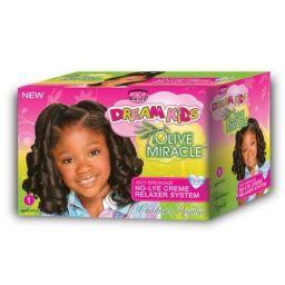 African Pride Dream Kids Olive Miracle No-Lye Relaxer Kit Regular