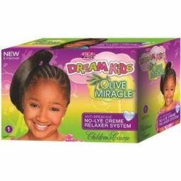 African Pride Dream Kids Olive Miracle No-Lye Relaxer Kit Coarse