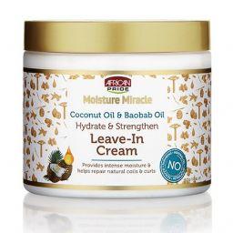 African Pride Moisture Miracle Coconut & Baobab Oil Leave-In Cream 15oz (425g)