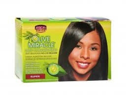 African Pride Olive Miracle No-Lye Relaxer Kit Super