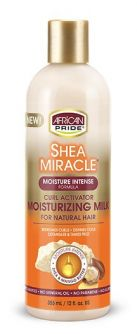 African Pride Shea Miracle Curl Activator Moisturizing Milk 12oz (355ml)