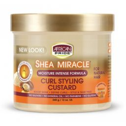 African Pride Shea Miracle Curl Styling Custard 12oz (340g)