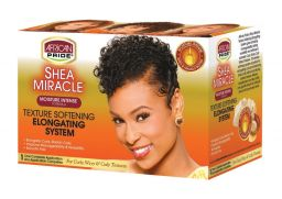 African Pride Shea Miracle Texture Softening Elongating System Kit