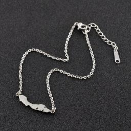 Jewelry Woman Necklace Curacao Silver Color 45cm+5cm