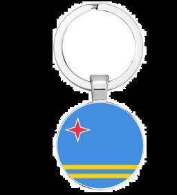 Aruba vlag sleutelhanger