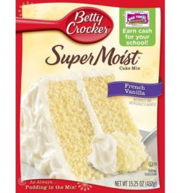 Betty Crocker Super Moist French Vanilla Cake Mix 432gr