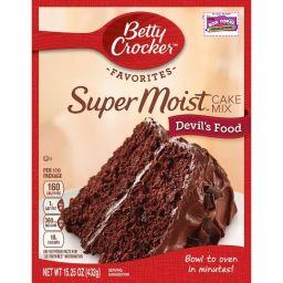 Betty Crocker Super Moist Devil's Food Cake Mix 15.25oz (432g)