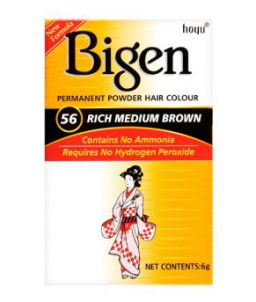 Bigen Permanent Powder Hair Color #56 Rich Medium Brown 6g