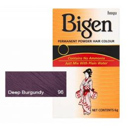 Bigen Permanent Powder Hair Color #96 Deep Burgundy 6g