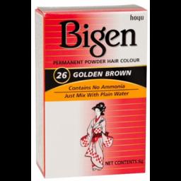 Bigen Permanent Powder Hair Color #26 Golden Brown 6g
