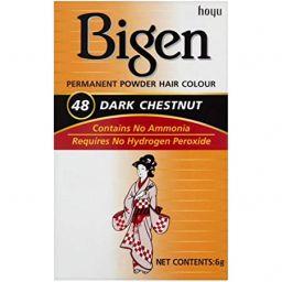 Bigen Permanent Powder Hair Color #48 Dark Chestnut 6g