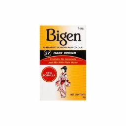 Bigen Permanent Powder Hair Color #57 Dark Brown 6g