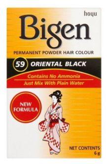 Bigen Permanent Powder Hair Color #59 Oriental Black 6g