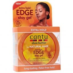 Cantu Shea Butter Natural Hair Edge Styling Gel Extra Hold 2.25oz (64g)