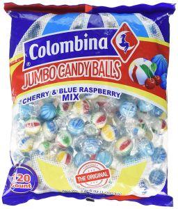 Colombina Jumbo Balls Cherry & Blue Raspberry 120 stuks - 38.1oz (1.08kg)