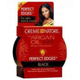 Creme of Nature Argan Oil Perfect Edges Black 2.25oz (63.7g)