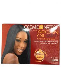 Creme Of Nature Argan Oil  No-Lye Relaxer Kit Super