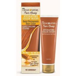Creme of Nature Pure Honey Hydrating Color Boost Light Golden Copper 3oz (89ml)