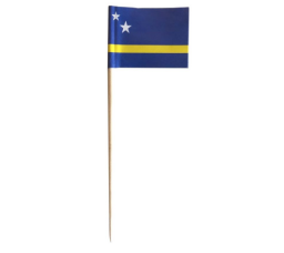 Cocktailprikker Curacao Vlag - 50 stuks