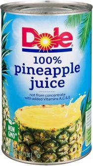 Dole 100% Pineapple Juice 1.36l (46 oz)