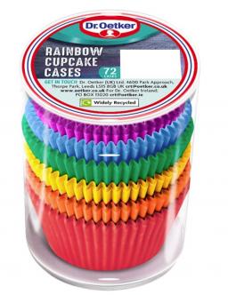 Dr. Oetker Rainbow Cupcake Cases 72stuks