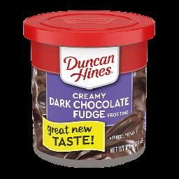 Duncan Hines Creamy Dark Chocolate Fudge Frosting 16oz (454g)