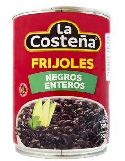 LA COSTEÑA FRIJOLES NEGROS ENTEROS 19.75oz (560g)