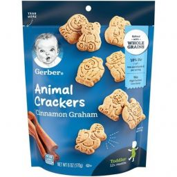 Gerber Animal Crackers Cinnamon Graham 6oz (170g)