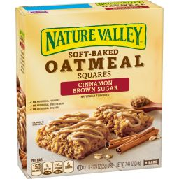 Nature Valley Oatmeal Squares Cinnamon Brown Sugar 7.44oz