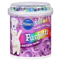 Pillsbury Frosting Funfetti Bold Purple Vanilla 442gr