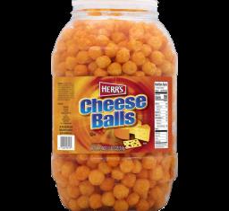 Herr's Cheese Balls Barrel 17oz  (482g)