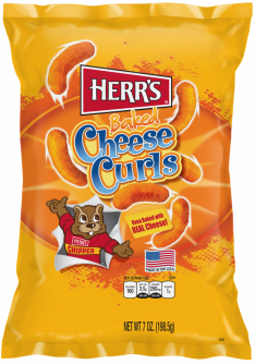 Herr's Baked Cheese Curls 7oz (198.5g)