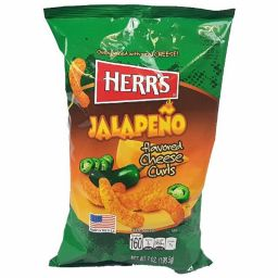 Herr's Jalapeno Cheese Curls 199gr