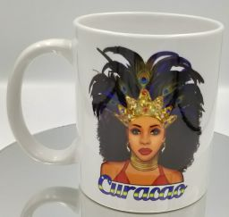 Curacao Mug Black Queen Design