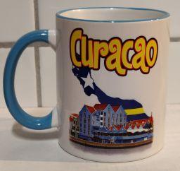 Curacao Mug Otrobanda Design - Blauw