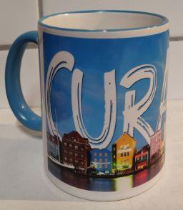 Curacao Mug Handelskade Full Design - Blauw